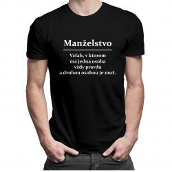 Manželstvo - pánske tričko s potlačou