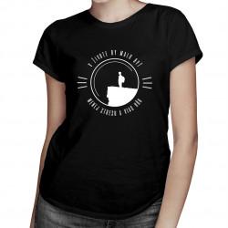 V živote by malo byť menej stresu a viac hôr - Dámske tričko s potlačou