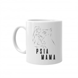 Psia mama - keramický hrnček s potlačou