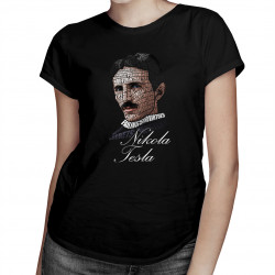 Nikola Tesla - dámske tričko s potlačou