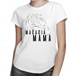 Mačacia mama - dámske tričko s potlačou
