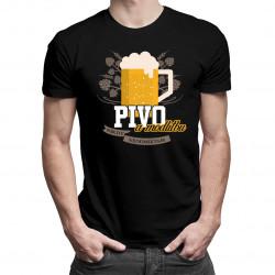 Pivo a modlitbu nikdy neodmietam - pánske tričko s potlačou