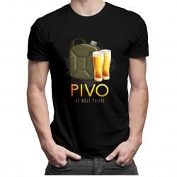 Pivo je moje palivo - pánske tričko s potlačou