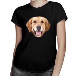 Golden retriever - dámske tričko s potlačou