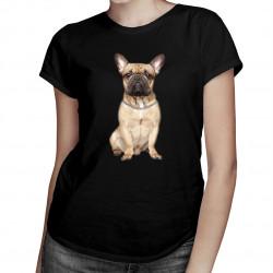Francúzsky buldoček v.2 -  dámske tričko s potlačou