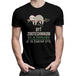 Byť zootechnikom nie je povolanie, je to životný štýl - pánske tričko s potlačou