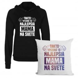Sadapre mamu - Takto vyzerá tá najlepšia mama na svete - mikina + vankúš s potlačou
