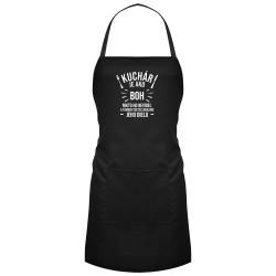 Kuchár je ako boh - zástera s potlačou