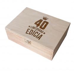 40 rokov Limitovaná edícia - drevený box na čaj s gravírovaním