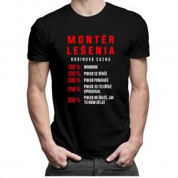 Montér lešenia - hodinová sadzba - pánske tričko s potlačou