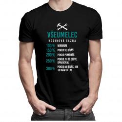 Všeumelec - hodinová sadzba - pánske tričko s potlačou