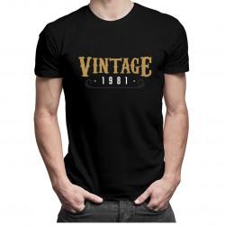Vintage 1981 - pánske tričko s potlačou