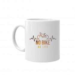 No bike no life - keramický hrnček s potlačou